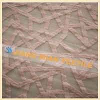 China wholesale Designer fabrics Plain Emboidery embroidery lace curtain fabric