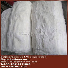 Natural colour rex rabbit fur plate supplier in China