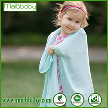 bamboo/cotton muslin baby bamboo cotton throw blanket with high quality