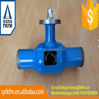 TKFM hot sale water industry use flow balance fully welded ball valve