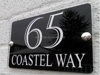 Transparent Plastic Acrylic Door Sign Board, Custom Acrylic Room Number Sign