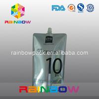 Stand up reusable drink liquid aluminum foil spout pouches