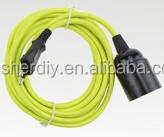 High quality plug cord colorful texible cables + E27 lampholder & VDE EU 2pin plug