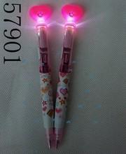 novelty stationery led pen heart ballpen promotion pen 57901