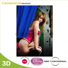 Chinese Factory Supply 2015 3D Nude Picture Lenticular Printing Poster