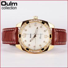 2015 new leather watch straps, watch with diamond, fancy lady watch wholesale