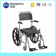 Manual/ plastic toilet commode chair for handicapped