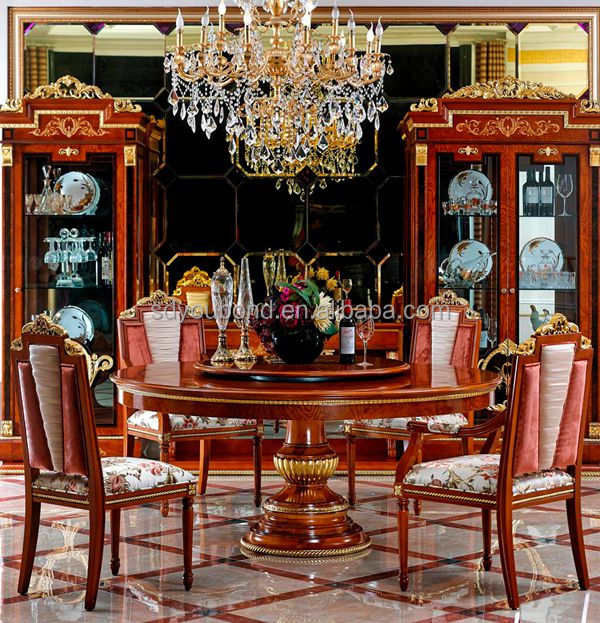 0038 Italian Design Royal Dining Room Furniture Wooden Classic Table And Chairs View Classic
