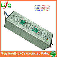 Ac85~265V waterproof electronic 30W constant current 900ma led driver for outdoor led light