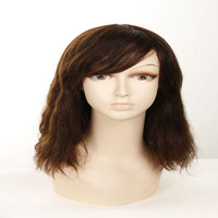 BSD Top sale high quality special discount human hair topper wig for women