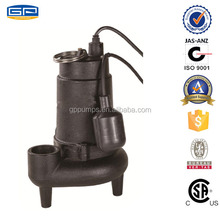 Cast Iron Sewage Pumps with CSA certification -submersible sewage underground water pump