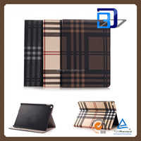 New Design Classical Grid pattern Texture Pattern Stnad Cover PU Leather Cover case For iPad pro tablet case fast delivery