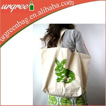 Fashion custom printed Organic Cotton Muslin Shoulder Bag