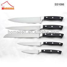 homesen inoxidable acero 5 piezas cuchillo conjunto