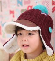 warm cotton peaked cap angel style acrylic fibers casquette hat star pattern Pu leather bongrace