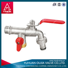 Agricultural dn15 bibcock cock faucet water tap brass ball cock and F*F*M forged angle brass ball valve or three way valve