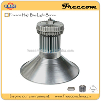 Freecom ip65 high bay lighting fixture 80w/100w/200w/300w with silver anodizing surface treatment