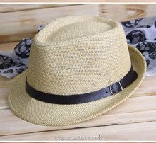 Wholesale Colorful Braid Straw trilby Fedora Hat for Men Women S-0017