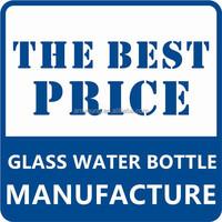 BPA free manufacture of christal anti fall heat resistant sport water bottle / borosilicate glass water bottle