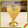 Decorative Gold color electroplating glass candle holder wholesale