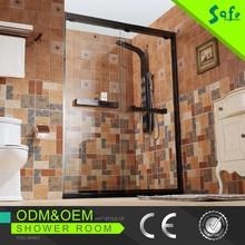 Portable bath Shower Screen with 2 Sliding Door