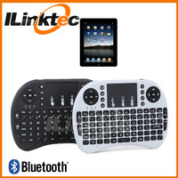 Portable smart tv keyboard mini keyboard bluetooth rohs with tracking mouse pad for tablet, smartphones