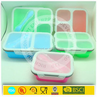 Silicone folding food container /silicone folding lunch box/collapsible lunch box