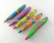 Promotion rotate diamond metal ballpoint pen crystal ball pen