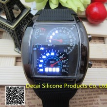 Modern Design Watches Men Automatic 3 ATM and 4 Brightness Level Aviation Dashboard design Digital TVG LED Watch
