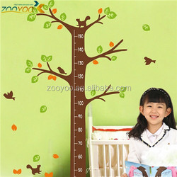 Removable wall decal tree kids height measurement wall stickers for nursery room (ZY PB 843)