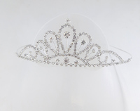 Latest Design Flower Shape Shiny Rhinestone Tiara