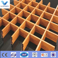 Special design aluminum acoustic grid ceiling used for art gallery
