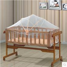 Cheapest Multifunction wood rocking baby crib