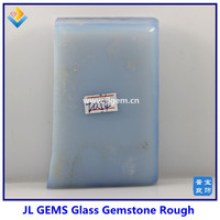 wholesale high quality synthetic milky glass rough for cutting gemstone