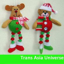 2014 High Quality Cheap popular santa clause cloth hanging ornament