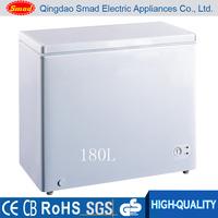 Best price solid door top open stainless steel display chest freezer
