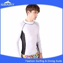 SBART 2015 Men's Surfing Shirt, UV Long Sleeve Shirt, Rash Guard With Lycra Fabric For Wholesale