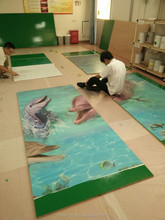 Two Component Self-Leveling Epoxy Floor Paint Finishing / epoxy resin for painting