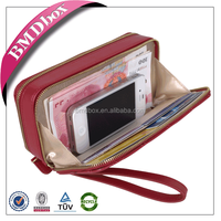 popular gift high quality leather wallet wedding favor bags with mirror