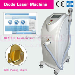 Vertical Diode 808nm laser Hair Removal machine/ Medical laser equipments with air+watercirculation+semi-conductor cooling