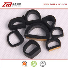 D Shape Rubber Self Adhesive Bubble Gasket Seal