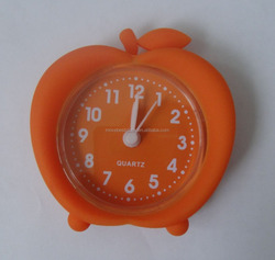 silicone mini alarm clock souvenir with cute shape