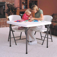 square white plastic folding table, portable plastic folding table