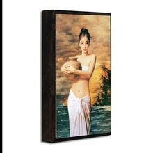 Hotel metal wall art painting women with flowers