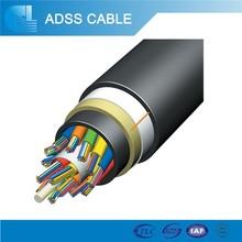 Todo dieléctrica Autoportante 48 Cconductores Cable óptico ADSS Telecomunicaciones Cable