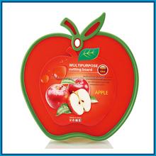 Plastic fruit shaped cutting board