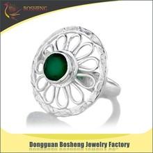 Stylish wholesale fashion ring umbrella shape emerald rings