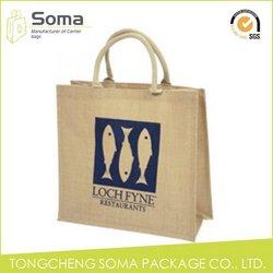 Fashionable best-Selling printed mini jute bags