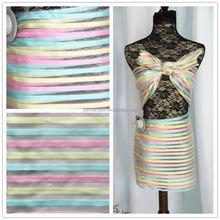 Rainbow Stripe Organza Fabric