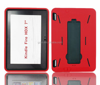 """2015 New products wholesales price popular practical tough robot waterproof PC+Silicone rubber case for Kindle Fire HDX 7.0"""""""
